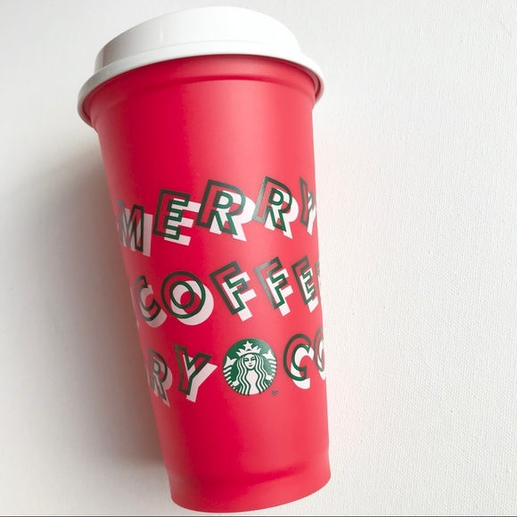 Starbucks Limited Merry Coffee Red Holiday Hot Cup